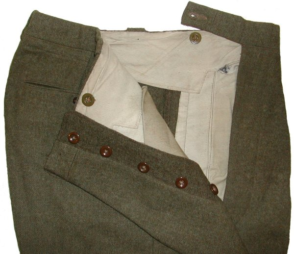 Trouser details showing the